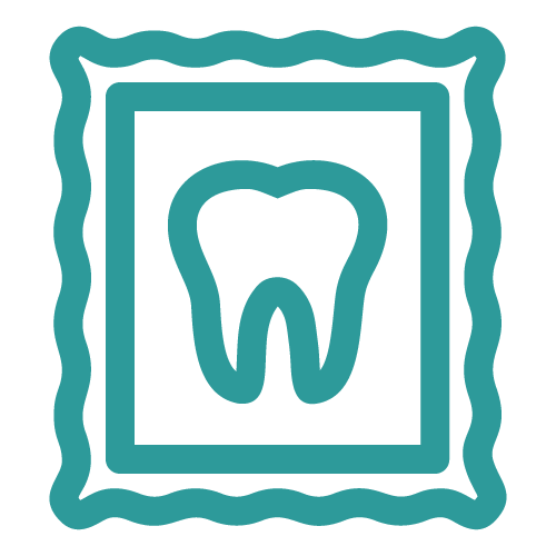 Icon of a tooth inside a frame